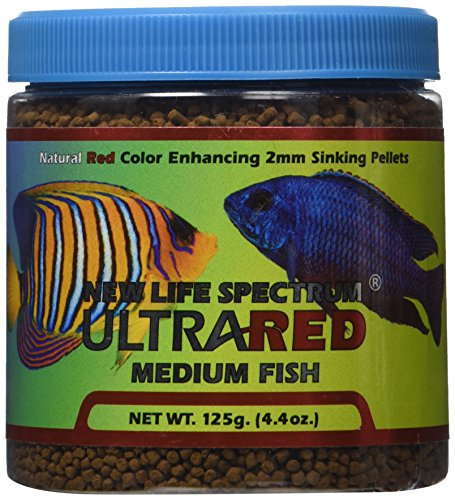 New Life Spectrum UltraRED Medium Red Enhancer 2mm Sinking Pet Food, 125gm (Cichlid Food Spectrum compare prices)