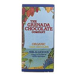 Grenada Chocolate Company Nib-a-Licious 60% Organic Dark Chocolate