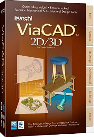 ViaCAD 2D/3D PC & MAC v8
