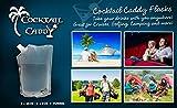 Cocktail Caddy Cruise Liquor Bag Kit For Alcohol - Concealable and Reusable Heavy Duty Flasks (2 x 32 Oz, 2 x 16 Oz, 2 x 8 Oz)