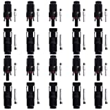 Excelvan® 10 Pairs of HC4-PV10C HC4-PV10C MC4 Male/Female Solar Panel cable Connectors