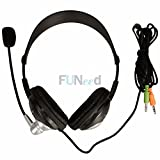 New Computer 3.5Mm Multimedia Stereo games Headset Headphone With Mic US