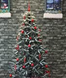 Snowing Christmas Tree GREEN Base 6 Feet 8 Inches Tall