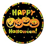 Creative Converting Halloween Pumpkin Party Round Dinner Plates, 8-Count