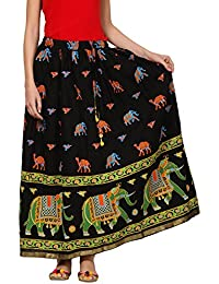 Saadgi Rajasthani Hand Block Printed Handcrafted Ethnic Lehnga Skirt For Women/Girls - B06XGHXR39