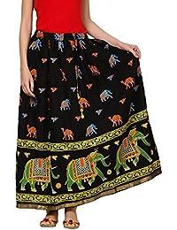 Saadgi Rajasthani Hand Block Printed Handcrafted Ethnic Lehnga Skirt For Women/Girls - B06XGJP8WM