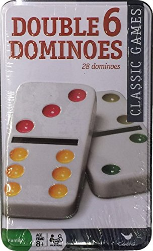 Tin Dominoes, Dbl 6 28 Color Dot Dominoes (Cover May Vary)
