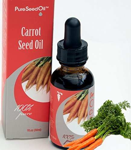 Anti-Aging Carrot Pure-Seed-Oil. All-Natural Cold-Pressed Undiluted-Carrier-Oil. Great for Face/Hair/Body. Use Alone or Infuse favorite Luxury-Skin-Care Products! Gluten-Free Parabens-Free 0.5 oz
