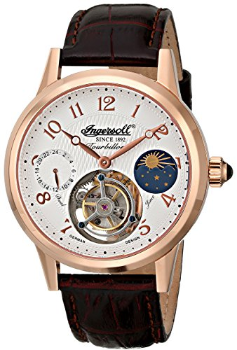 Ingersoll-Mens-IN5305RG-Pierce-Tourbillon-Analog-Display-Mechanical-Hand-Wind-Brown-Watch