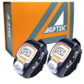 (2-pcs) AGPtek® New Two Way Radio Walkie Talkie Wristwatch Spy Wrist Digital Watch--Auto Channel Scan--LCD display--Auto Squelch built-in Microphone
