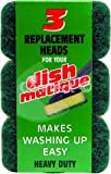 Dishmatique Dismatique replacement heads green heavy duty ( Sponge )Heavy Duty Replacement Heads - Consumable