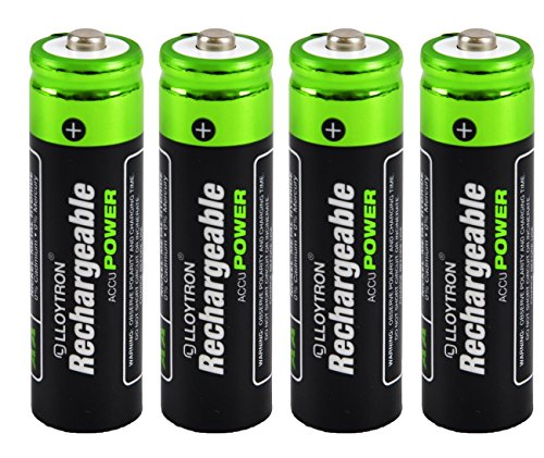 4 x Lloytron Taille AA Piles rechargeables 800 mAh NiMH Accu Ultra