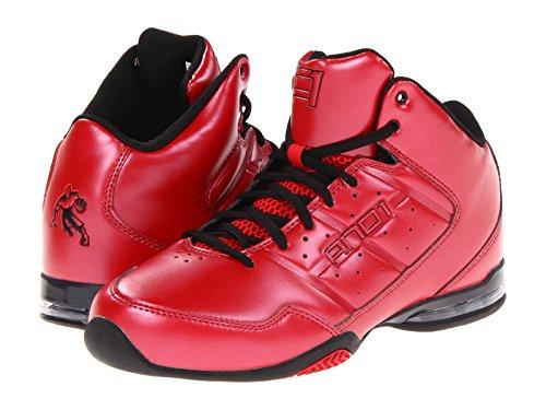 AND1 Men's Master Mid Basketball Shoe (17, Varsity Red/Varsity Red/Black)
