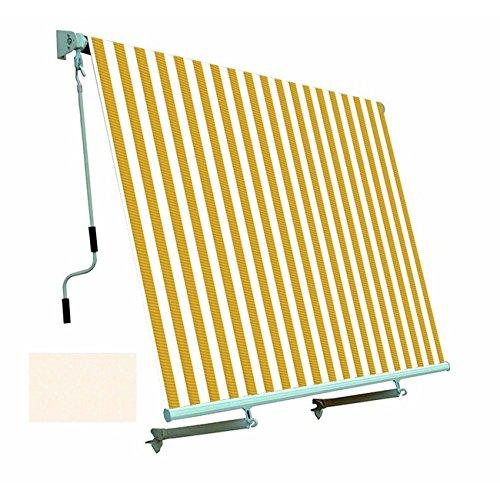 Tenda da sole per balcone con sistema a caduta Colore ECRU 250x250 cm PAPILLON