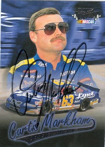 Autograph Warehouse 41281 Curtis Markham Autographed Trading Card Auto Racing 1997 Fleer Ultra No. 88