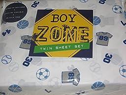 Boy Zone Sports Themed TWIN Sheet Set