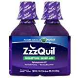 ZzzQuil Nighttime Sleep-Aid Liquid Warming Berry Flavor Twin Pack 24 Fl Oz