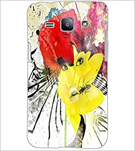 PrintDhaba Abstract Art D-1103 Back Case Cover for SAMSUNG GALAXY J1 (Multi-Coloured)
