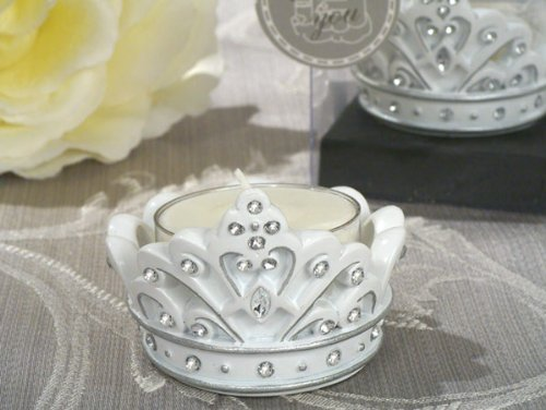 Queen for a day Sparkling Tiara candle holder. [SET OF 12] by Cassiani Collections Wedding Favors