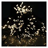 AGPtek® Warm White Solar Power Fairy Light String for Indoor Outdoor Home Garden Christmas Party (55ft 100 LED 2 Light Modes)