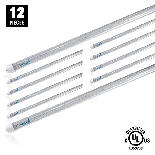 12-Pack of Hyperikon® T8 LED Light Tube, 8ft,