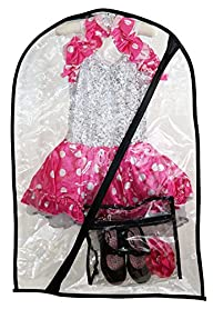 Dance Costume Bag-Children's Garment Bag(Clear + Mini Bag)