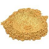 24 Karat Gold / Yellow Luxury Mica Colorant Pigment Powder by H&B OILS CENTER Cosmetic Grade Glitter Eyeshadow Effects for Soap Candle Nail Polish 1 oz
