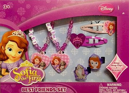 Sofia the First Best Friends Set Rings Snap Clips & Bracelets