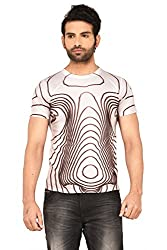 MEN 3D EFFECT PRINTED TSHIRTS(US-FACE-YLO-L)