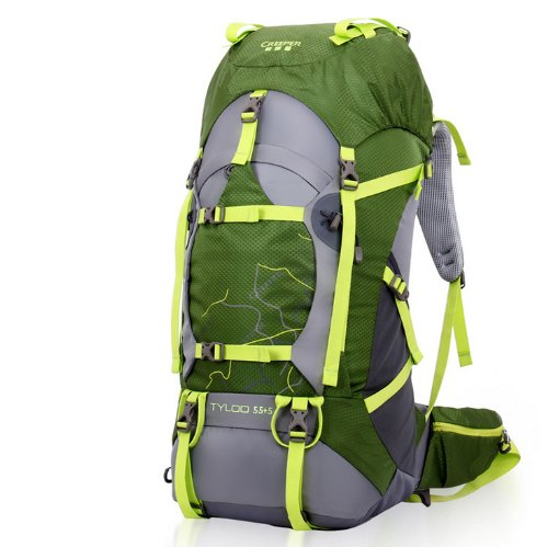 Modovo Creeper Internal Frame Pack Tcs Bearing System For Camping Hiking Mountaineering 70L Green