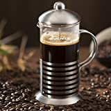 Ovente FSH20S 20oz Stainless Steel French Press Coffee Maker, Great For Brewing Coffee And Tea, 5 Cup, Nickel...