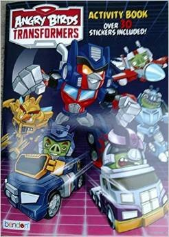 Angry Birds Transformers Activity Book (Over 30 Stickers Included) Staple Bound - 1