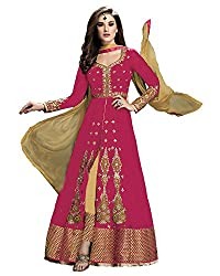 Charming pink Colored Georgette Anarkali Suit