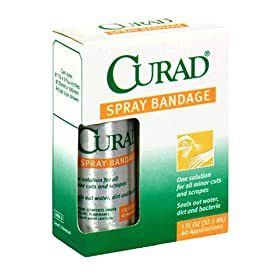 Curad spray on bandage in box