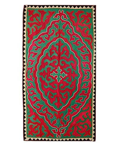 "nuLOOM One-of-a-Kind Hand Crafted Shydrak Felted Tribal Rug, Red, 4' 7"" x 9' 5"""