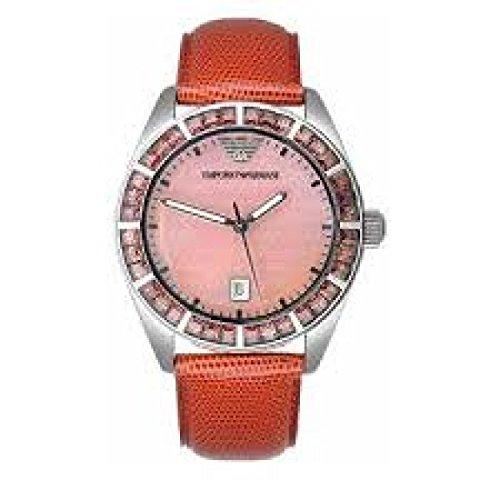 Emporio Armani AR0530 Reloj de Mujer de Cuarzo Acero Quandrante Nácar Correa de Piel