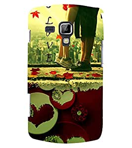 PRINTSWAG LOVER COUPLE Designer Back Cover Case for SAMSUNG GALAXY S DUOS S7562