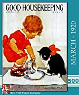 Dinner for Kitty 500 Pieces - Good Housekeeping Puzzle by New York Puzzle Company
