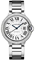 Cartier Ballon Bleu Medium 18k White Gold Watch WE9006Z3 by Cartier