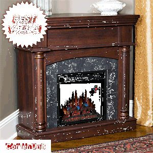 Chimneyfree Wexford Wall Or Corner Electric Fireplace In Brown Cherry - 18Dm9038-Pm92
