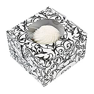 Black & White Cupcake Boxes (1 dz)