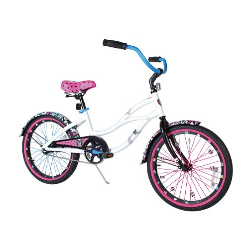 Amazon.com : Dynacraft Girl's Monster High Beach Cruiser Bike (White