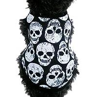 Mosunx(TM) Pet Puppy Small Dog Cat Pet Clothes Skull Vest T-Shirt Apparel Clothes