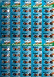 Eunicell Lot de 100 piles bouton alcalines AG13 A76 L1154 SR44 G13 357 PX76A V13GA