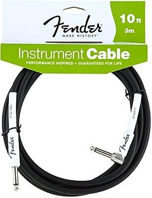 Fender Instrument Lead 10 Foot /3 M 1/4 Jack to 1/4 Angled Jack