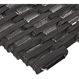 Durable Corporation 108 Recyled Tire-Link Anti-Fatigue Mat, for Wet Areas, Straight Weave, Black