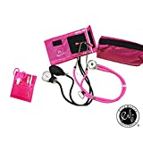 EMI NK-330 - PINK Sprague Rappaport Stethoscope and Aneroid Sphygmomanometer Blood Pressure Set and Pocket Organizer Nurse Kit
