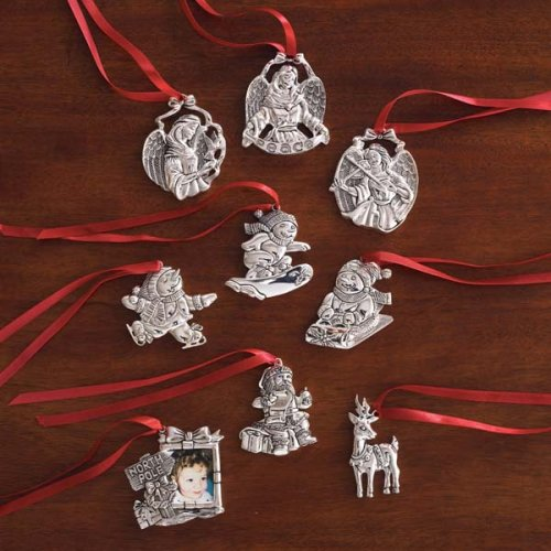 Gorham Assorted Silver-Plated Ornaments, Set of 9
