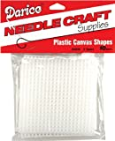 Darice 10-Piece Square Plastic Canvas Shape, 3 by 3-Inch, Clear