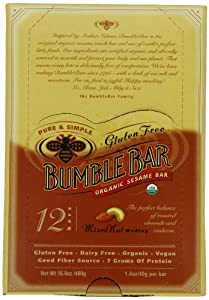 BumbleBar Gluten Free Organic Energy Original Mixed Nut, 1.4-Ounce Bars (Pack of 12) from Bumble Bar